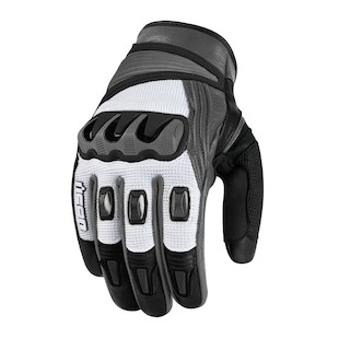 Icon Compound Mesh Short Gloves (Color: White / Size: LG) 822680
