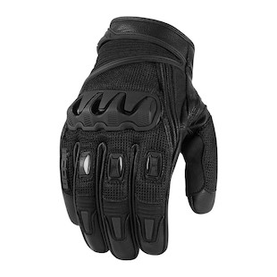 Icon Compound Mesh Short Gloves (Color: Black / Size: LG) 822839