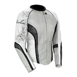 Joe Rocket Cleo 2.2 Women's Jacket (Color: Silver/Black/White / Size: LG) 826534