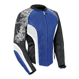 Joe Rocket Cleo 2.2 Women's Jacket (Color: Blue/White/Black / Size: LG) 826407