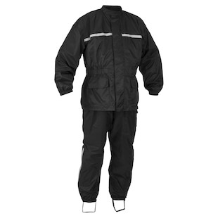 River Road High-N-Dry 2-Piece Rain Suit (Color: Black / Size: SM) 777493