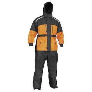 River Road Tempest 2-Piece Rain Suit (Color: Black/Orange / Size: XL) 819279