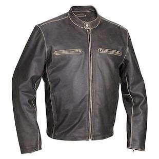 River Road Vintage Drifter Distressed Leather Jacket (Color: Brown / Size: 54) 171015