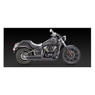 Vance & Hines Twin Slash Staggered Exhaust Kawasaki Vulcan VN900 2006-2015 (Exhaust Type: Full System / Finish: Chrome) 832553