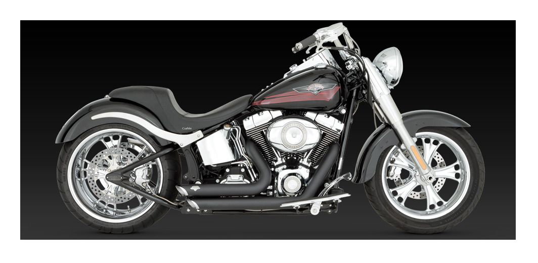 Pro Taper Handlebars >> Vance & Hines Shortshots Staggered Exhaust For Harley ...