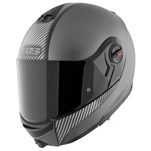 Speed and Strength SS1700 Lock And Load Modular Helmet (Color: Silver/Carbon Fiber / Size: LG) 838846