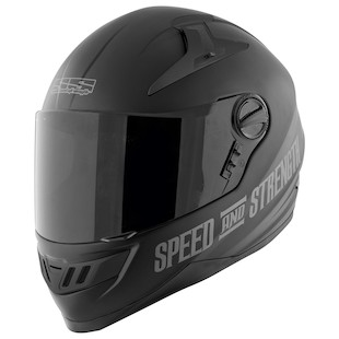 Speed and Strength SS1300 Solid Speed Helmet (Color: Silver / Size: MD) 876305