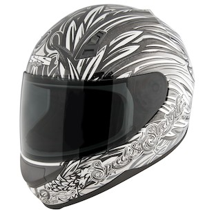 Speed and Strength SS700 Hell's Belles Helmet (Color: Matte Black/Silver / Size: LG) 1148552