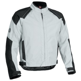 Firstgear Rush Tex Jacket (Color: Silver/Black / Size: SM) 839809