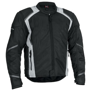 Firstgear Mesh Tex Jacket (Color: Black/Silver / Size: SM) 839821