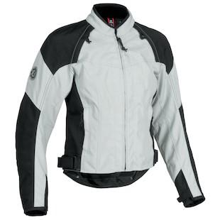 Firstgear Contour Women's Textile Jacket (Color: Silver/Black / Size: 2XL) 839820