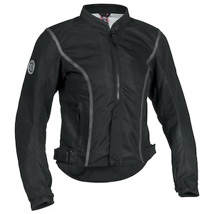 Firstgear Contour Women's Mesh Jacket (Color: Black / Size: WXL) 839872