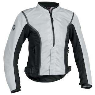 Firstgear Contour Women's Mesh Jacket (Color: Silver/Black / Size: WXL) 839886