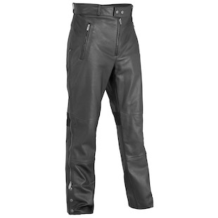 River Road Bravado II Leather Overpants (Color: Black / Size: 34) 839571