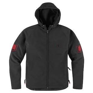 Icon 1000 Hoodlux Softshell Jacket (Color: Black / Size: 2XL) 847216