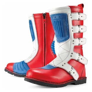Icon 1000 Elsinore Glory Boots (Color: Red/White/Blue / Size: 13) 847262