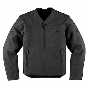 Icon Device Leather Jacket (Size LG Only) (Color: Stealth Black / Size: LG) 847287