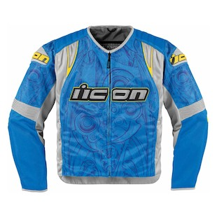 Icon Overlord Sportbike SB1 Mesh Jacket (Size XL Only) (Color: Blue / Size: XL) 847347