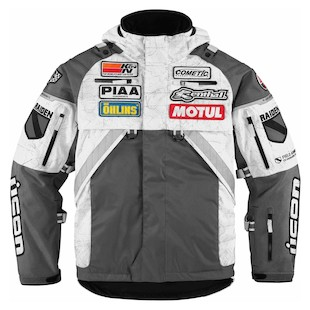 Icon Patrol Raiden Waterproof Jacket (Color: Grey / Size: XL) 847372