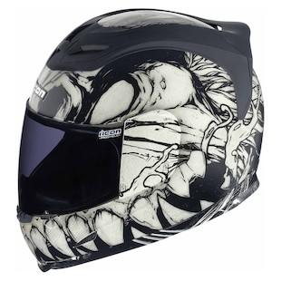 Icon Airframe Manic Helmet (Color: White/Black / Size: XL) 847789