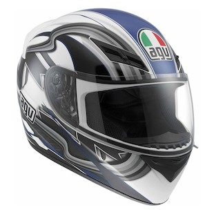 AGV K3 Chicane Helmet [Size 2XL Only] (Color: White/Blue / Size: 2XL) 848845