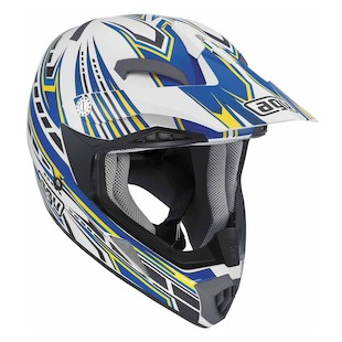 AGV MT-X Point Helmet (Color: White/Blue / Size: 2XL) 849091