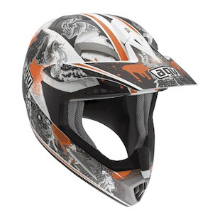 AGV MT-X Evolution Helmet (Size 2XL Only) (Color: White/Orange / Size: 2XL) 849107