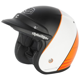 Troy Lee Open Face Helmet (Color: Mert Lawwill Black/White/Orange / Size: MD) 867214