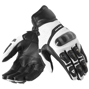 REV'IT! Chevron Gloves (Color: White/Black / Size: 3XL) 868901