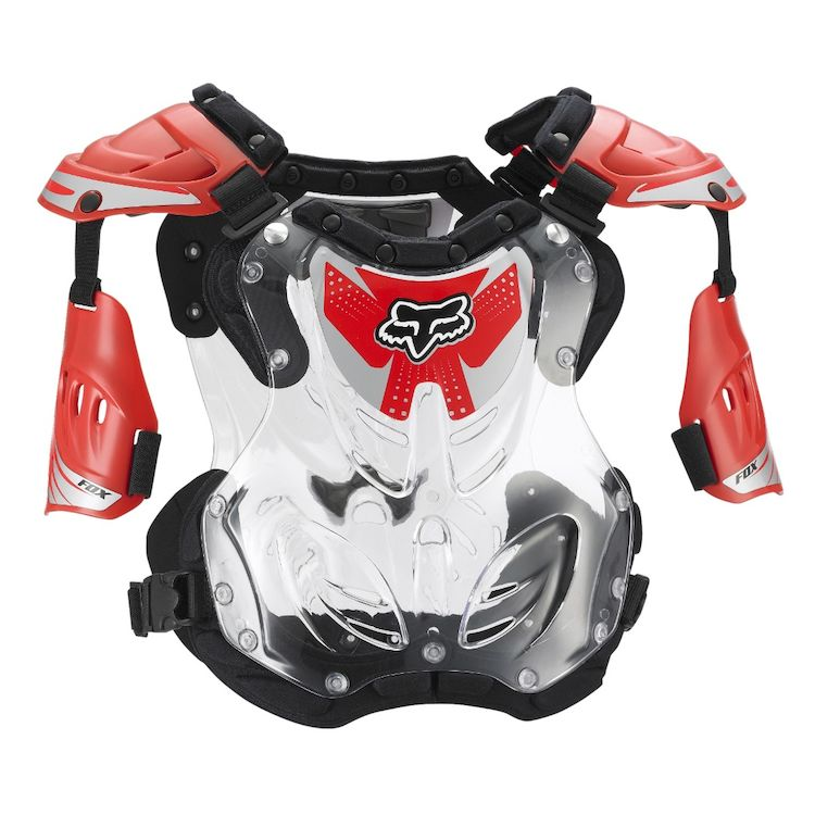 Fox R3 Chest Protector Roost Guard Deflector Decal Kit black//grey Large LG