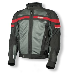 Olympia Renegade Jacket (Color: Black/Pewter/Red / Size: 3XL) 872026
