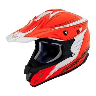 Scorpion VX-34 Spike Hi Viz Snow Helmet (Size XL Only) (Color: Orange / Size: XL) 863340