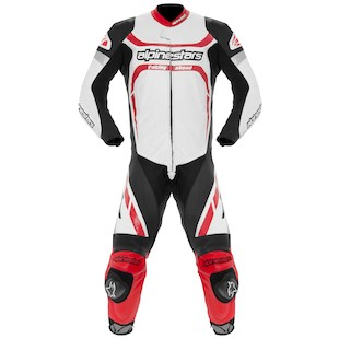 Alpinestars Motegi Race Suit (Color: White/Black/Red / Size: 54) 880987