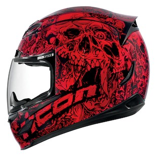 Icon Airmada Parahuman Helmet (Color: Red / Size: MD) 882333
