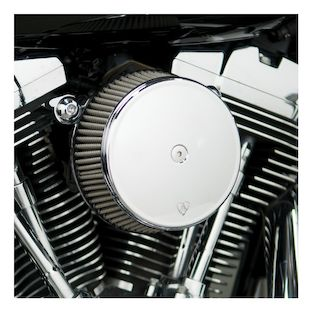 Arlen Ness Smooth Stage 1 Big Sucker Air Cleaner Kit For Harley Twin Cam 1999-2017 (Material: Synthetic Stainless Jacketed Air Filter / Type: Smooth Chrome Billet Cover) 1071658