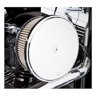 Arlen Ness Stage 2 Big Sucker Air Cleaner Kit For Harley 2008-2017 (Material: Standard Air Filter / Type: Smooth Chrome Steel Cover) 878514