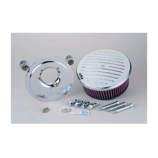 Arlen Ness Stage 2 Big Sucker Air Cleaner Kit For Harley Twin Cam 1999-2017 (Material: Standard Air Filter / Type: Grooved Billet Aluminum Cover) 878056