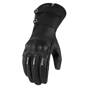 Icon 1000 Hella Kangaroo Long Women's Gloves (Size XS Only) (Color: Black / Size: XS) 887128