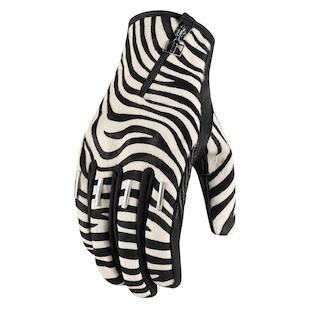 Icon 1000 Catwalk Zebra Women's Gloves (Color: Zebra / Size: LG) 887116