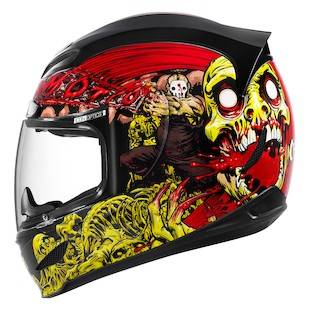 Icon Airmada Chainbrain Helmet (Size XS Only) (Color: Black/Red/Yellow / Size: XS) 886625