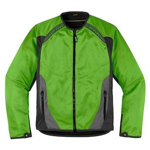 Icon Anthem Mesh Jacket (Color: Green / Size: LG) 886787