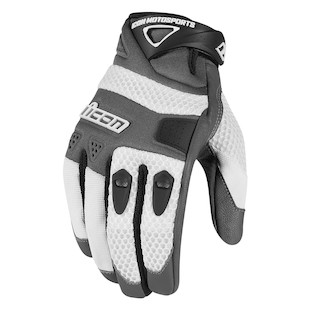 Icon Anthem Gloves (Color: White / Size: SM) 887107