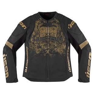 Icon Overlord Prime Women's Jacket (Color: Black/Gold / Size: 3XL) 886750