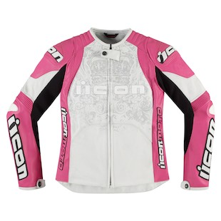Icon Overlord Prime Women's Jacket (Color: Pink/White / Size: XL) 886755