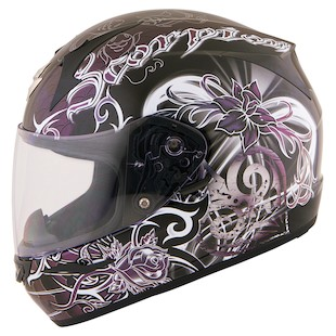 Scorpion EXO-R410 Orchid Women's Helmet (Color: Black / Size: 2XL) 887812