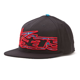 Alpinestars Big Plaid 210 Hat (Color: Black / Size: LG-XL) 843884