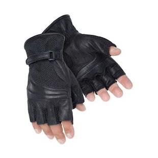 Tour Master Gel Cruiser II Fingerless Gloves (Color: Black / Size: 2XL) 339714
