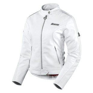 Icon Hella Women's Leather Jacket (Color: White / Size: LG) 722410