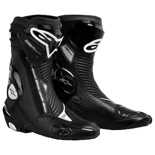 Alpinestars SMX Plus Vented Boots (Color: Black / Size: 38) 897275