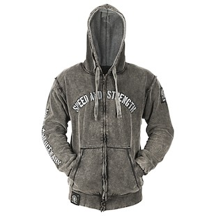 Speed and Strength Moto Mercenary Armored Hoody (Color: Weathered Black / Size: 3XL) 884775